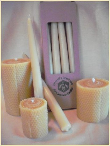 Hand-dipped Dinner Taper Candles